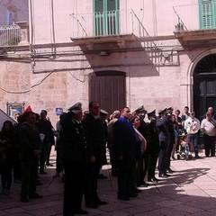 Corteo del 25 aprile in Piazza Municipio