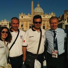 da destra Elisabetta De Gennaro, Gaetano De Cesare, Fabrizio Tavella, Massimo Achini e Massimo Tavella
