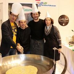 Roberto Pansini, Luigi Vista e Isabella de Pinto per Telethon