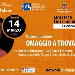 """Roberto Ottaviano in """"Omaggio a Trovajoli"""" con l'Orchestra della Magna Grecia - Molfetta, Museo Diocesano 14 marzo 2014"""