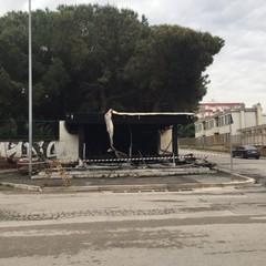 Il chiosco dell'ortofrutta di via Caduti sul Mare