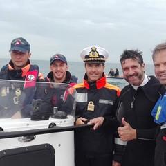 La liberazione delle due tartarughe marine al largo di Molfetta