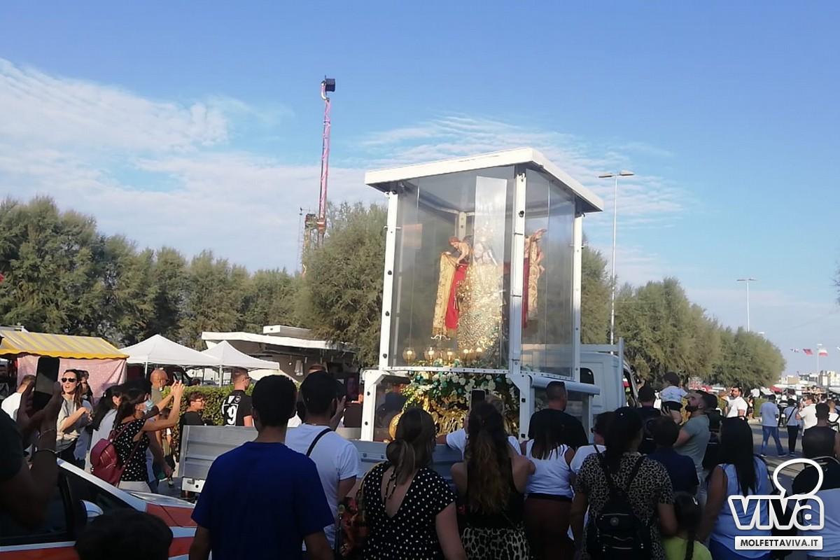Madonna dei Martiri su mezzo mobile a Molfetta