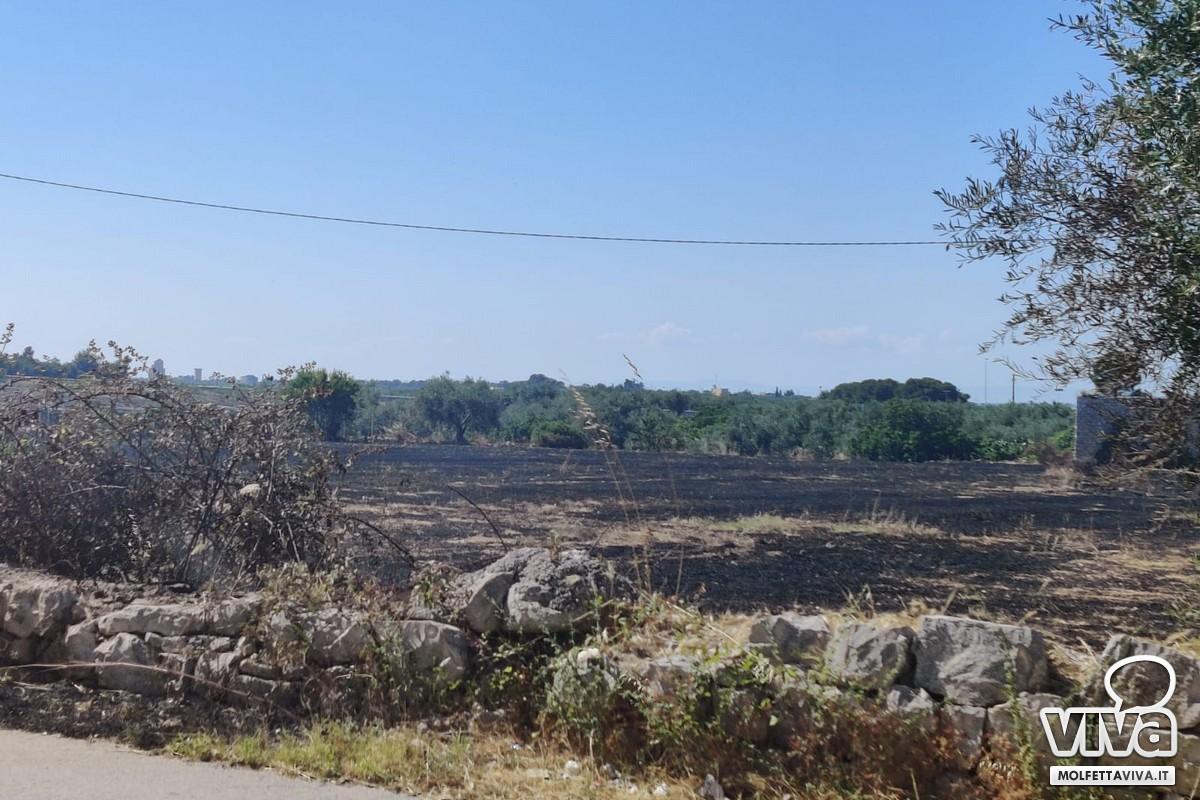 incendio via del cimitero