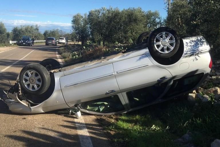 L'incidente stradale avvenuto sulla Molfetta-Ruvo
