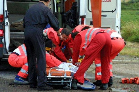 Una ambulanza del Servizio 118