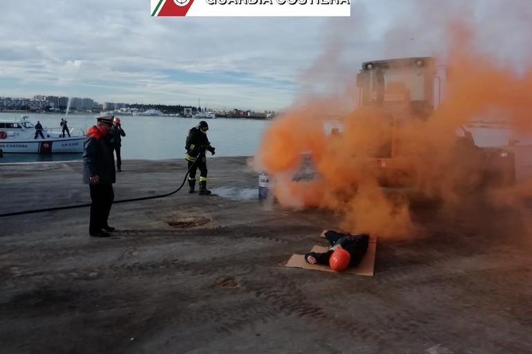L'esercitazione svolta al porto di Molfetta