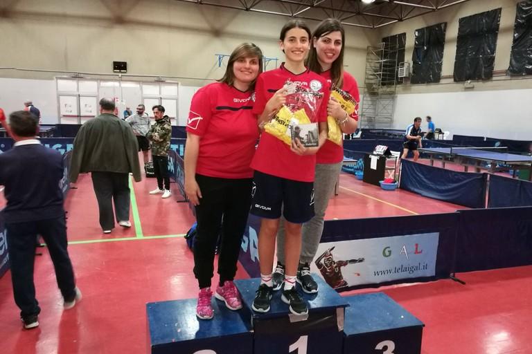 podio doppio femminile