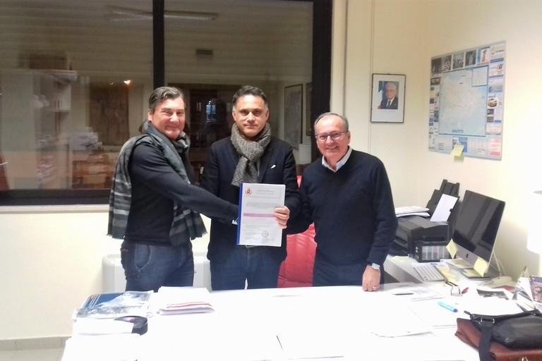 I referenti del Comitato con Mariano Caputo