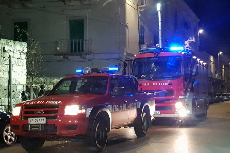 Incendio in via Fornari