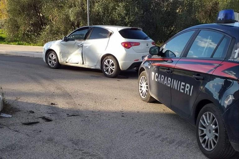 L'Alfa Romeo Giulietta recuperata dai Carabinieri