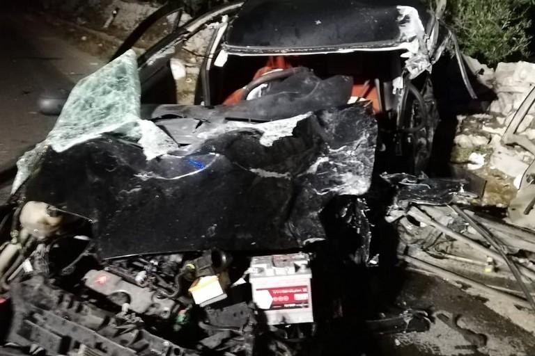 L'incidente stradale avvenuto sulla litoranea per Bisceglie