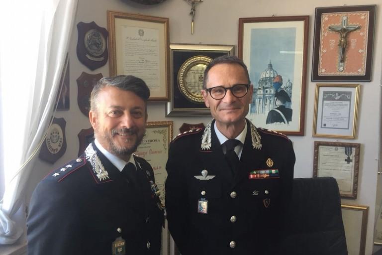 Il capitano Vito Ingrosso e il colonnello Vincenzo Molinese