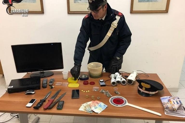 Fondi, carabinieri fuori servizio arrestano due spacciatori: sequestrati chili di droga