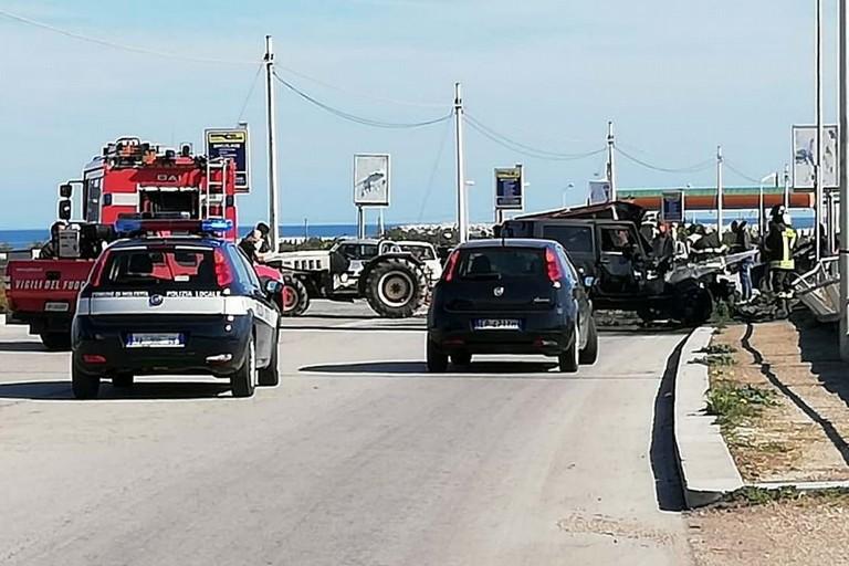 L'incidente stradale avvenuto lungo la strada vicinale Padula