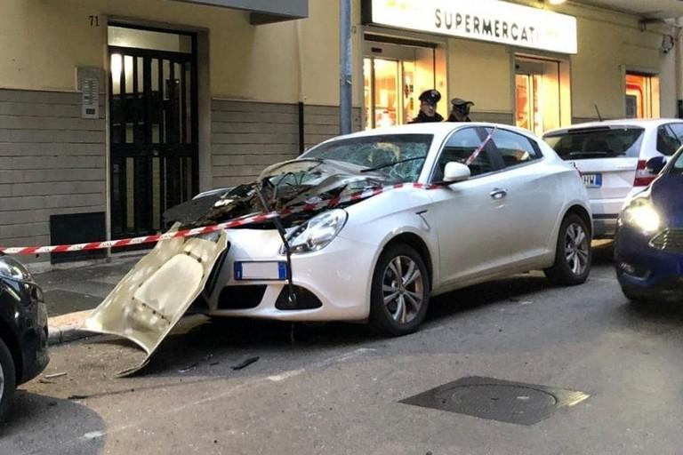 L'Alfa Romeo Giulietta distrutta
