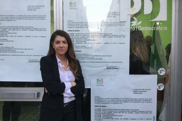 Erika Cormio è la nuova segretaria del PD Molfetta