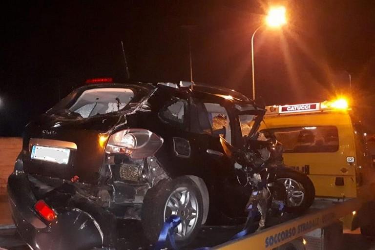 L'incidente stradale avvenuto sull'autostrada A14