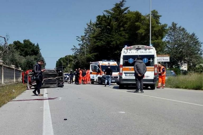 L'incidente stradale avvenuto sulla strada provinciale 112