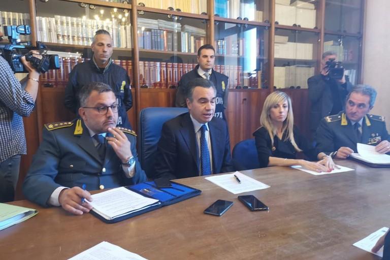 La conferenza stampa della Guardia di Finanza