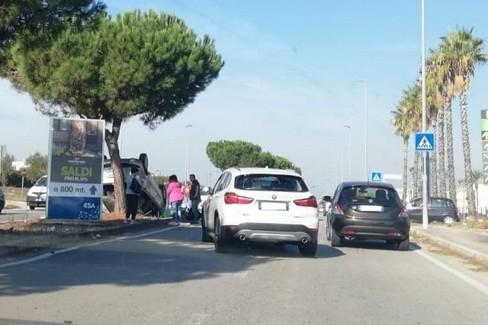 L'incidente in via Olivetti
