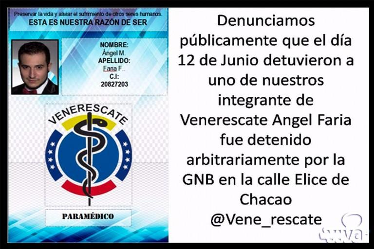Venezuela, arrestato paramedico barese