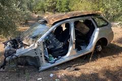 Auto rubate e cannibalizzate nascoste tra gli uliveti di Molfetta