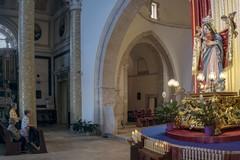 Le suggestive immagini dell'8 settembre a Molfetta all'interno della Basilica della Madonna dei Martiri