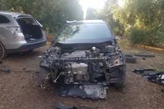 Auto rubate e cannibalizzate, ladri in fuga ad Andria