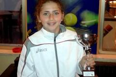 Claudia Frisario ai campionati italiani individuali di tennis under 11
