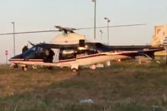 Un elicottero dei carabinieri in zona industriale