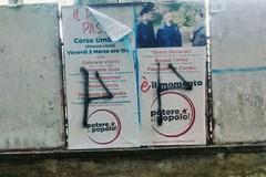 Simboli fascisti sui manifesti elettorali di Potere al Popolo, «Molfetta antifascista, nessun passo indietro»
