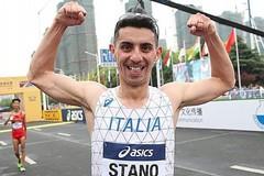 Massimo Stano dell'Aden Exprivia Molfetta è il primatista italiano dei 20 km di marcia