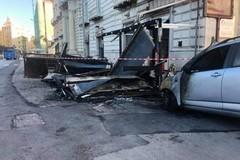 Incendio in piazza Garibaldi, il centrosinistra: «Molfetta non è un'isola felice»