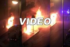 Fiamme e paura: terrore e sgomento in via Panunzio. IL VIDEO