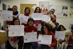 Botti, flash mob di Croce Rossa e Lega del Cane: LE FOTO