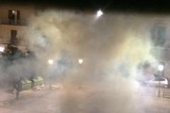 """Notte di San Silvestro """"di fuoco"""" tra Piazza Paradiso, Via Ruvo e la zona 167: LE FOTO"""
