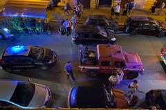 Cade lampione della pubblica illuminazione, tragedia sfiorata a Corso Dante