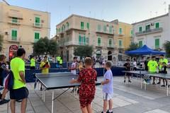 """Prosegue il progetto """"Tennistavolo nelle piazze"""" ideato dall'ASD L'azzurro Molfetta"""