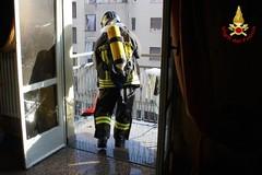 Non c'è nessuno in casa: a fuoco un appartamento in via Vivaldi