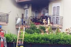 Fiamme in un appartamento. Tempestivo intervento di Polizia Municipale e Vigili del Fuoco