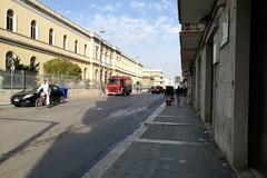 Fiamme su corso Fornari: Vigili del Fuoco e Polizia Municipale sul posto