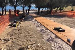 La Prima Cala di Molfetta accessibile ai disabili, lavori in corso