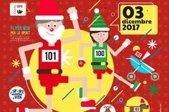 """""""Corri con Santa Claus"""": il 3 dicembre sport, animazione e teatro di strada"""