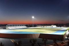 Cantiere per la nuova pista di atletica a Molfetta agli sgoccioli. Ora il maxi-schermo