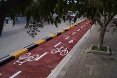 Completato un altro tratto della pista ciclabile di Molfetta. Le foto