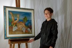 Il talento di Antonello Portento apprezzato da Giorgio Grasso e Vittorio Sgarbi
