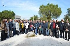 Monumento a Don Tonino Bello, cerimonia per la posa della prima pietra - LE IMMAGINI