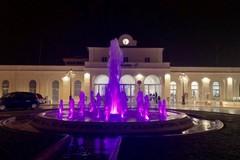 Molfetta illumina di viola i monumenti contro il tumore al pancreas