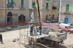 Proseguono i lavori di riqualificazione di Piazza Immacolata a Molfetta